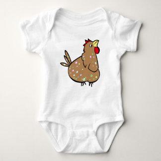 漫画の鶏-ベビーのTシャツ ベビーボディスーツ