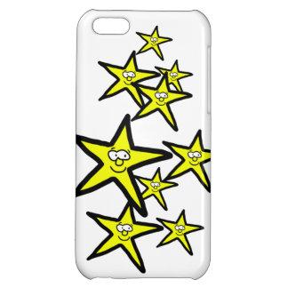 漫画の黄色い星のスマイリーフェイスの電話箱 iPhone5Cケース