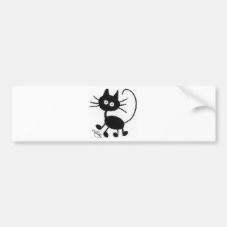 漫画の黒猫 バンパーステッカー