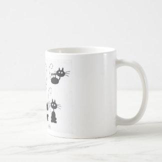漫画の黒猫-猫の鳴き声の多く コーヒーマグカップ