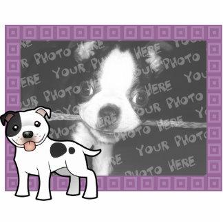 漫画の(犬)スタッフォードのブルテリア 写真彫刻マグネット