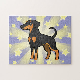 漫画の(犬)ドーベルマン・ピンシェル(だらしない耳) ジグソーパズル