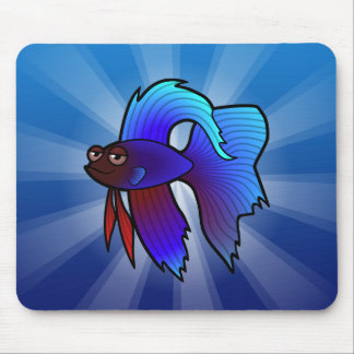 漫画のBettaの魚/シャムの戦いの魚 マウスパッド