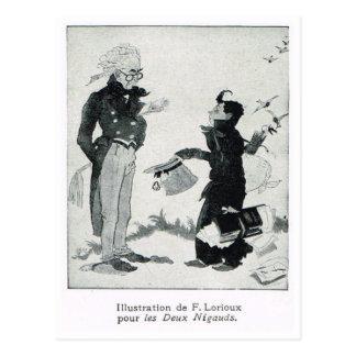 漫画のLesのdeux Nigauds、F. Lorioux 葉書き