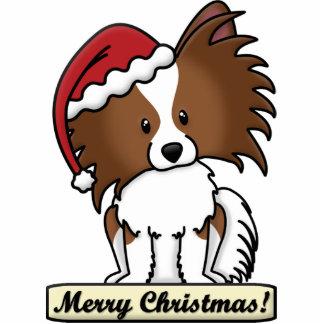 漫画のPapillonのクリスマスのオーナメント 写真彫刻オーナメント