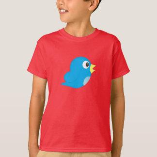 漫画のTwitterの鳥-子供のTシャツ Tシャツ