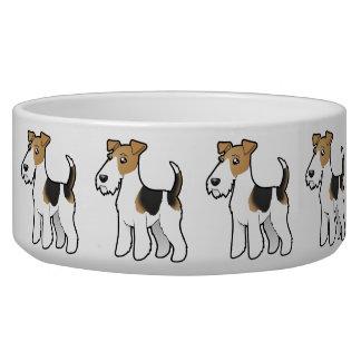 漫画ワイヤーフォックステリア犬 犬用水皿