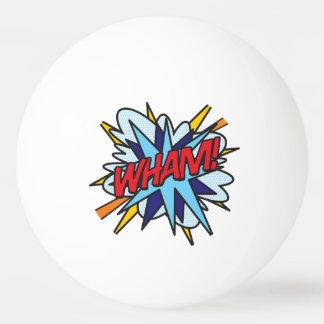 漫画本のポップアートは強打ぶつかります 卓球ボール