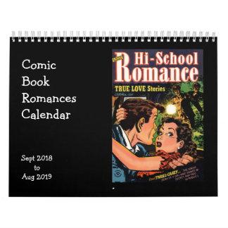 漫画本のロマンス2018年9月 カレンダー
