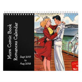 漫画本のロマンス- 2017年Sapt 9月o 2018年 カレンダー