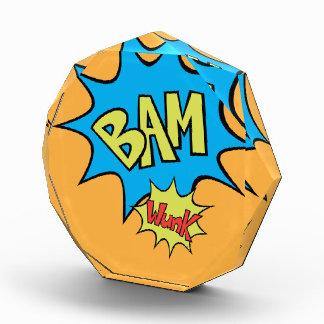 """漫画本""""Bam""""の気球 表彰盾"""