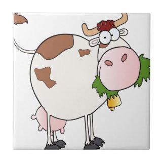 漫画牛食べ物の草 タイル