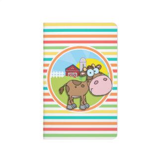 漫画牛; 明るい虹は縞で飾ります ポケットジャーナル