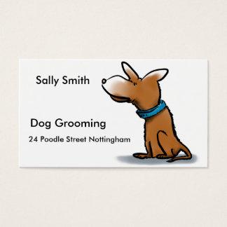 漫画犬の名刺IE: 犬のグルーミング 名刺