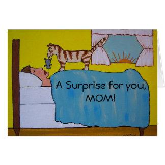 漫画猫の母の日カード カード