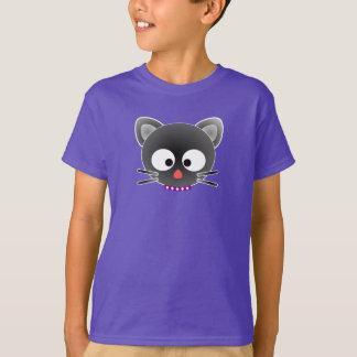 漫画猫の顔-子供のTシャツ Tシャツ