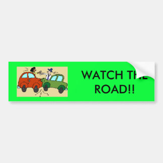 漫画車衝突は、道を見ます!! バンパーステッカー