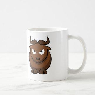 漫画Bull -白いコーヒー・マグ コーヒーマグカップ