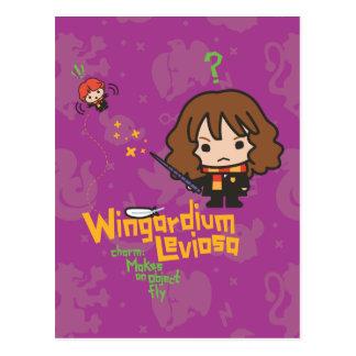 漫画HermioneおよびRon Wingardium Leviosaの綴り ポストカード