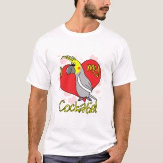 漫画I愛私のCockatiel Tシャツ