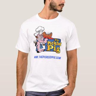漬物のブタの基本的な白T Tシャツ