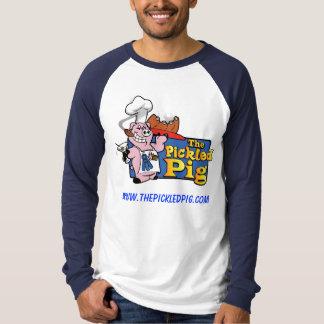 漬物のブタのRaglanの長袖のTシャツ Tシャツ
