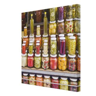 漬物の果物と野菜の表示 キャンバスプリント