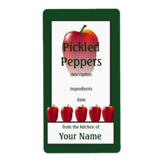漬物の赤いピーマンの調理師の缶詰になるラベル ラベル