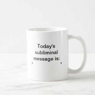 潜在意識メッセージのマグ ベーシックホワイトマグカップ