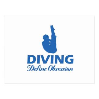 潜水のデザイン ポストカード