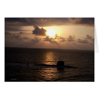 潜水艦および日没 カード