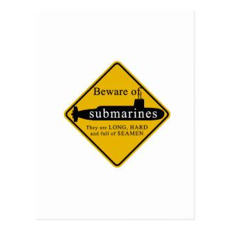 潜水艦の用心して下さい ポストカード
