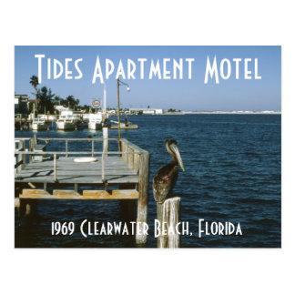 潮アパートのモーテルのClearwaterフロリダの郵便はがき ポストカード