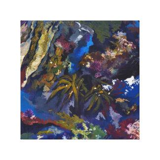潮プールの絵画の再生 キャンバスプリント