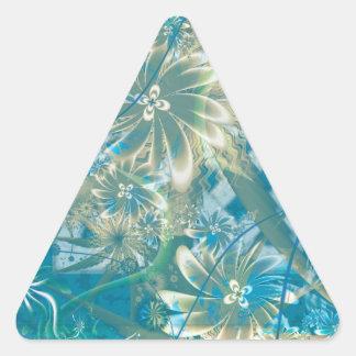 潮河の開花 三角形シール