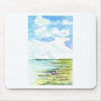 潮沼地および空-水彩画の鉛筆 マウスパッド