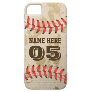 澄んでクールなヴィンテージの野球 iPhone SE/5/5s ケース