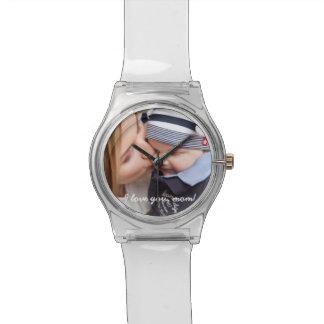 澄んで名前入りな腕時計-お母さんのためのユニークなギフト 腕時計