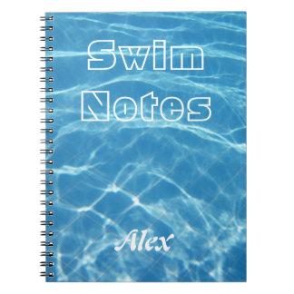 澄んで涼しく青い水生プール水水泳 ノートブック