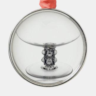 澄んなアールデコガラスのつぼ メタルオーナメント