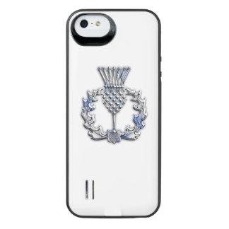 澄んなプリントのスコットランド人のアザミのクロム iPhone SE/5/5sバッテリーケース