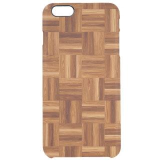 澄んな場合と寄木細工の床のiPhone 6/6S クリア iPhone 6 Plusケース