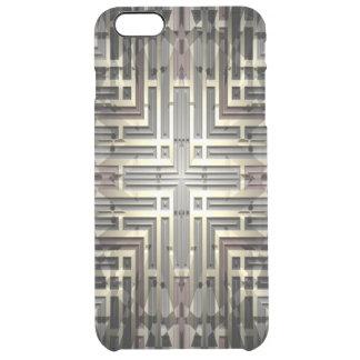 澄んな場合と青銅色の格子iPhone 6/6S クリア iPhone 6 Plusケース