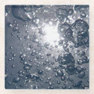 澄んな水泡 ガラスコースター