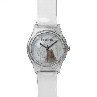 澄んな球の腕時計の名前入りなハムスターFrather 腕時計