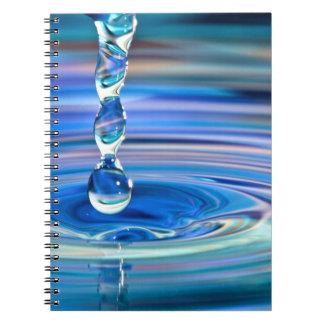 澄んな青海原の低下の流れること ノートブック