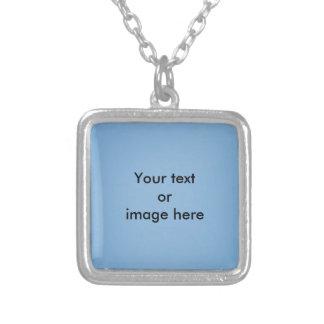 澄んな青空の写真テンプレート シルバープレートネックレス