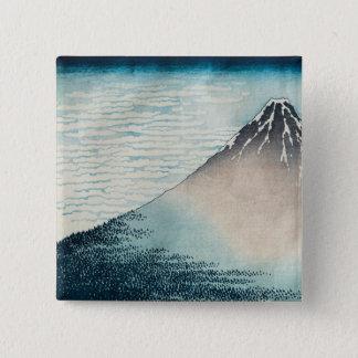 澄んなWeatherの富士 5.1cm 正方形バッジ
