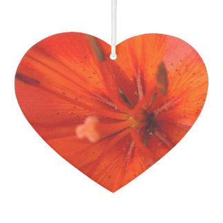 激しいオレンジ及び赤いユリII カーエアーフレッシュナー