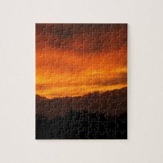 激しいオレンジ日没 ジグソーパズル